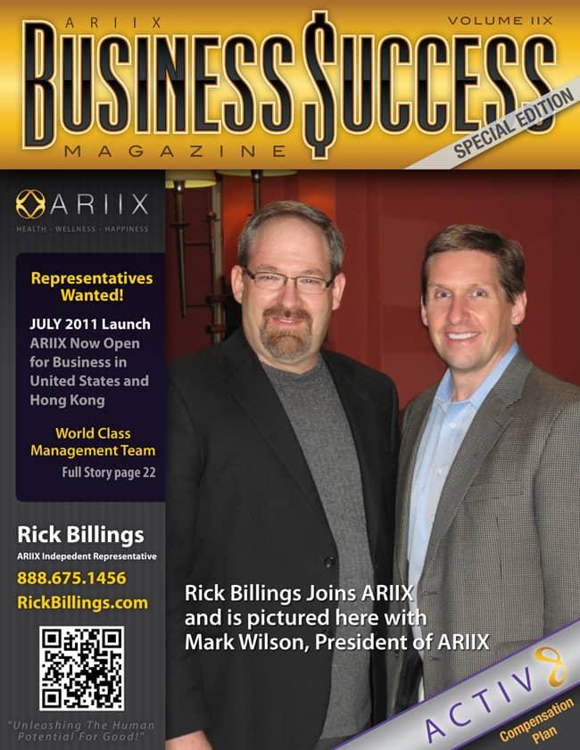 ARIIX Business Success | Rick Billings