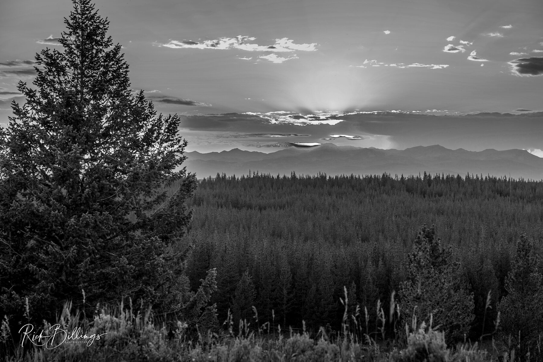 No 1057 20190820 Yellowstone Sunset
