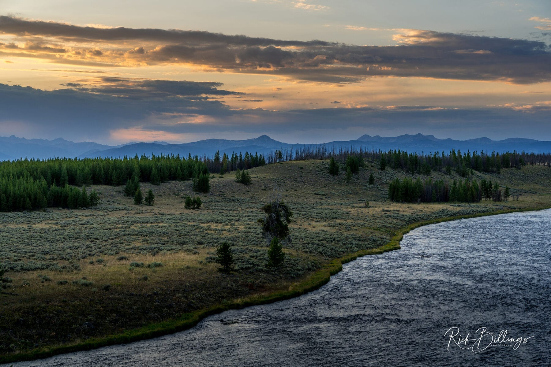 No 1060 20190820 Yellowstone Sunset River