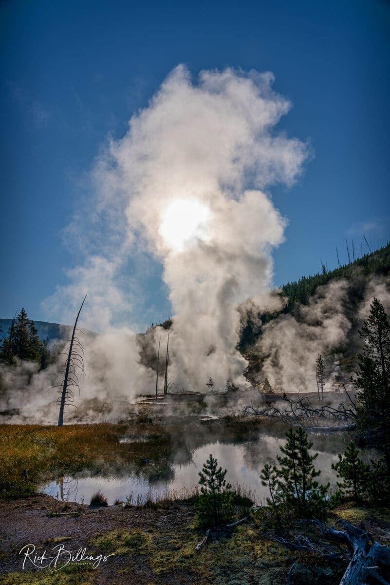 No 1082 20190821 Yellowstone Sunrise Geyser