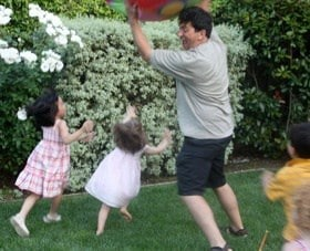 exercise at home with kids