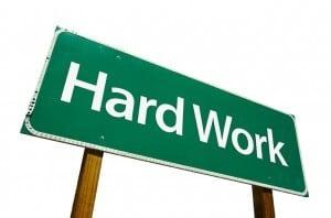 get rich by hard work
