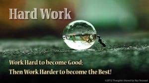 hard work to get rich