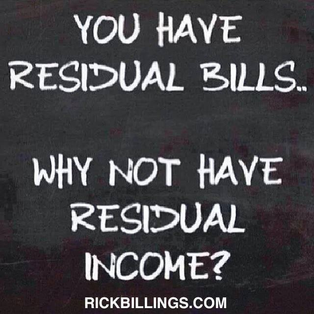 you have residual bills